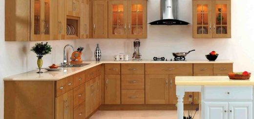 simple kitchen open cabinet designs