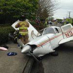 Yolun Ortasına Düşen Uçak Alev Topuna Döndü